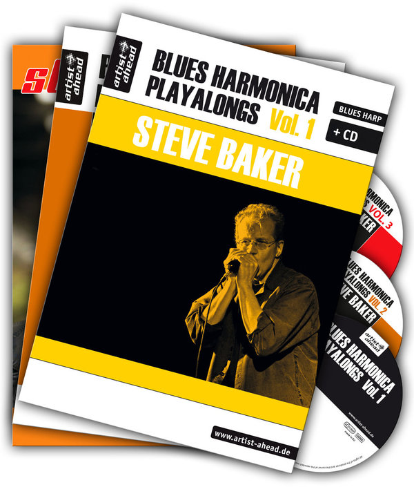 Blues Harmonica Playalongs Vol. 1-3 im Set!